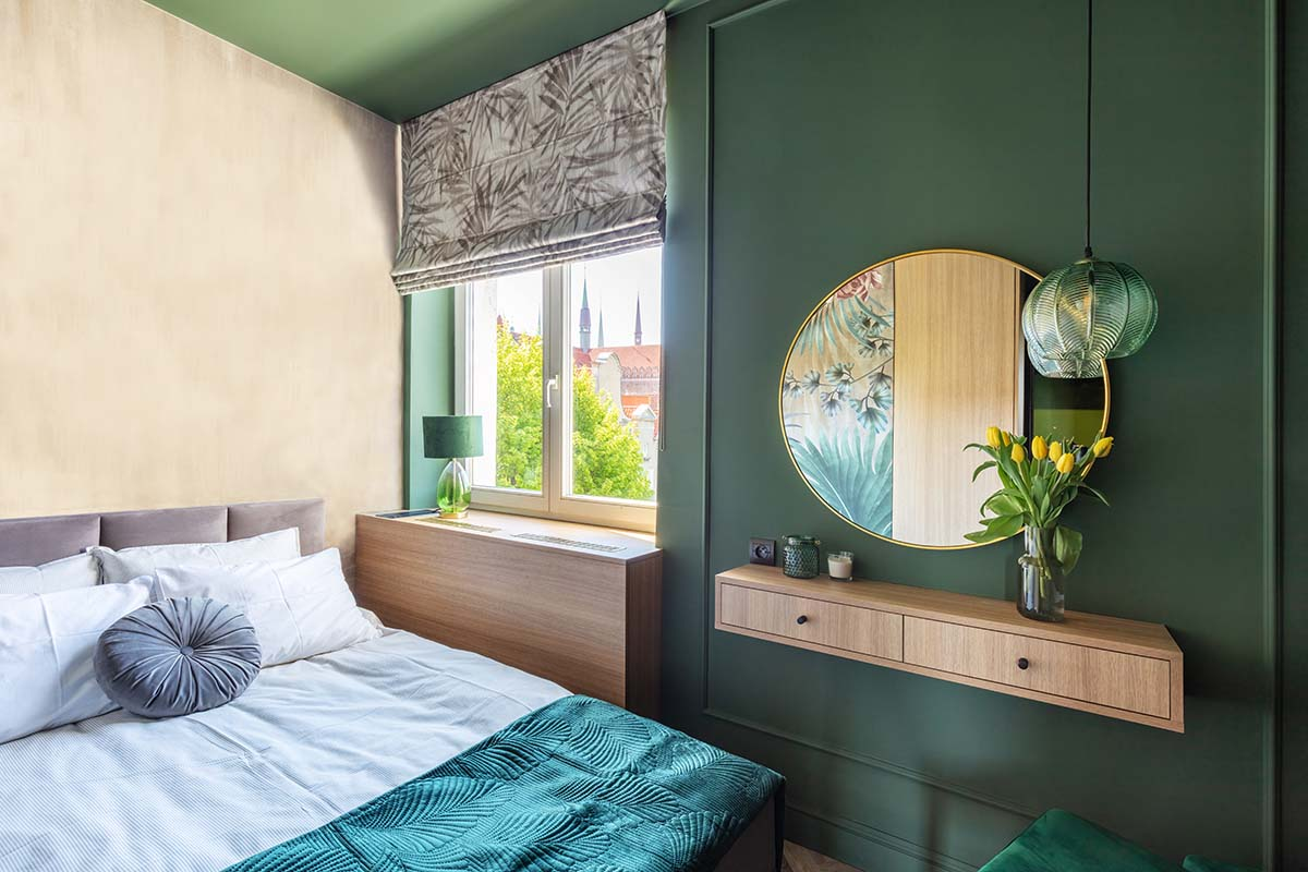 elegant small bedroom