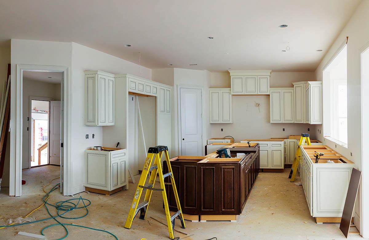 kitchen installation and refurbishment in process