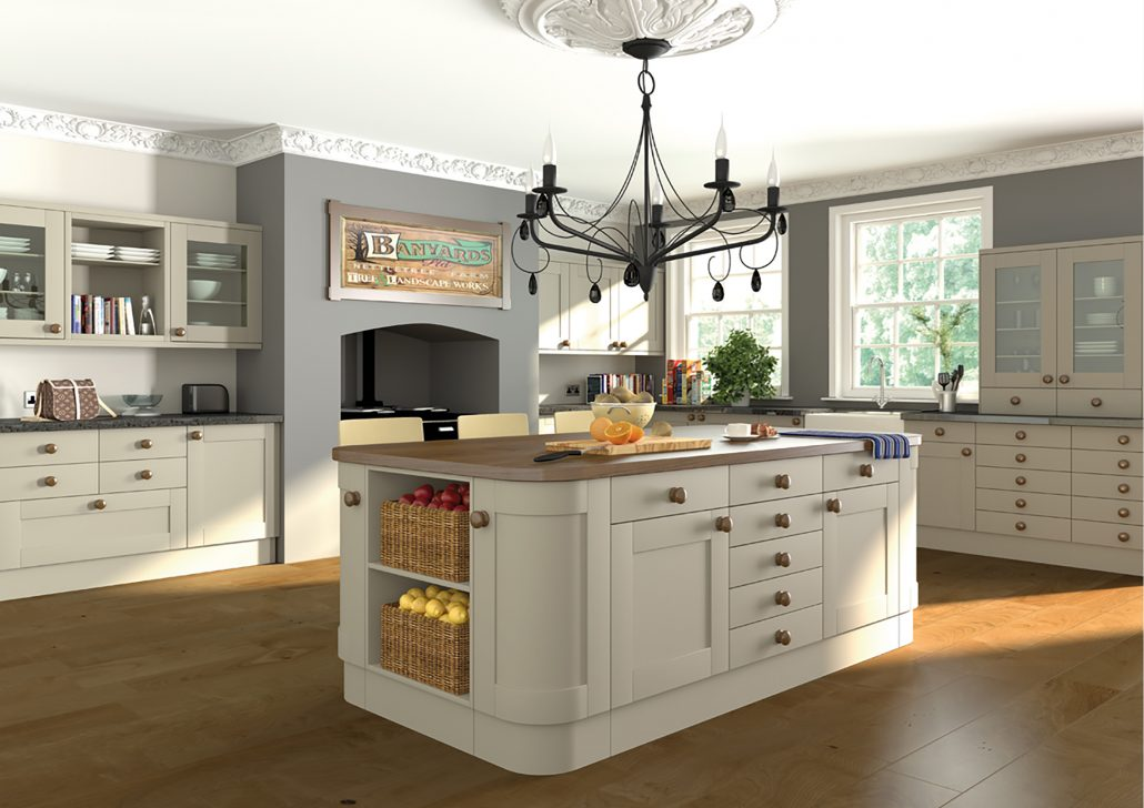 paintable shaker style kitchen