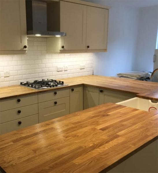 hardwood worktop photo