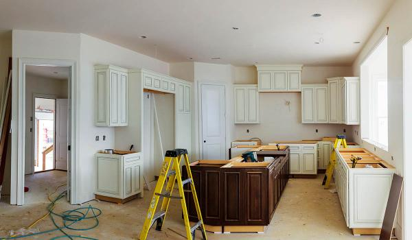kitchen installation and refurbishment in process