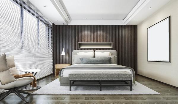beautiful wooden bedroom